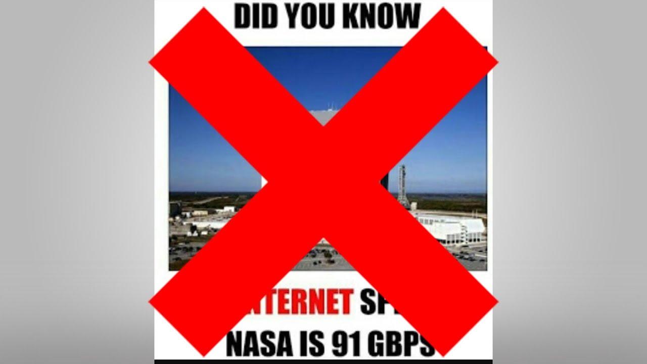 แฉเมื่อความเร็วอินเทอร์เน็ต NASA ไม่ใช่ 91 Gbps